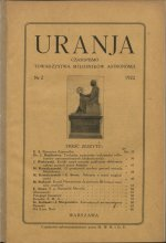 Urania nr 2/1922 (Uranja nr 2/1922)