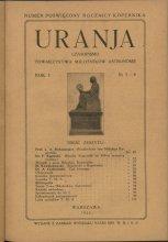 Urania nr 3-4/1922 (Uranja nr 3-4/1922)