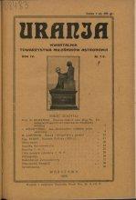 Urania nr 1-2/1925 (Uranja nr 1-2/1925)