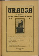 Urania nr 3/1925 (Uranja nr 3/1925)