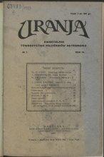 Urania nr 1/1927 (Uranja nr 1/1927)