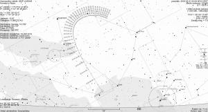 Trasa komety 252P/LINEAR od kwietnia do czerwca 2016 r.