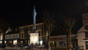 Centrum miasta Moffat w nocy