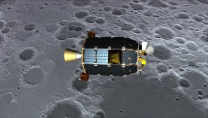 Artystyczna wizja sondy LADEE nad powierzchnią Księżyca