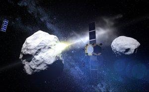 Sonda AIM obserwuje zderzenie sondy DART z planetoidą