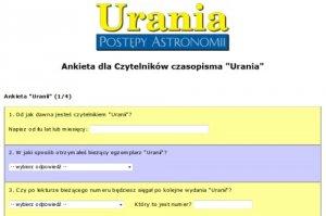 Ankieta dla Czytelników Uranii
