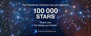 100 tysięcy fanów ESO na Facebooku
