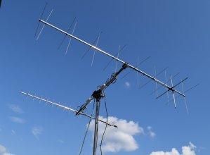 Anteny stacji naziemnej PW-Sat2 na wydziale EiTI Politechniki Warszawskiej
