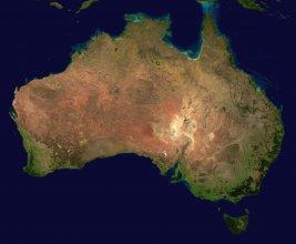 Satelitarne zdjęcie Australii