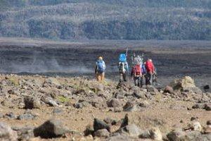 Ekipa BASALT na jednym z hawajskich wulkanów