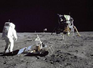 Buzz Aldrin na Księżycu podczas misji Apllo 11