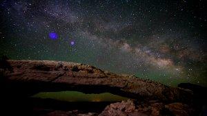 Droga Mleczna nad Parkiem Canyonlands