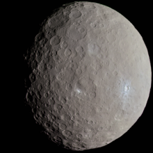Zdjęcie Ceres wykonane przez sondę Dawn