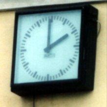Zegar z dworca kolejowego
