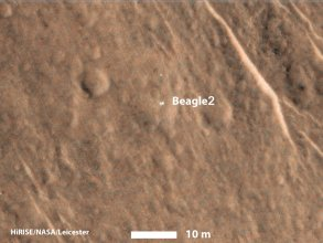 Beagle 2 na zdjęciu z sondy Mars Reconnaissance Orbiter
