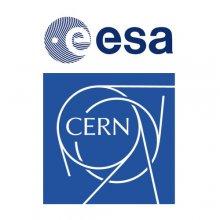 Loga ESA oraz CERN
