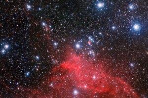 Gromada gwiazd NGC 3572 i obłok molekularny
