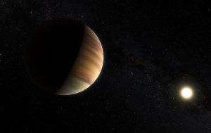 Artystyczna wizja planety 51 Pegasi b