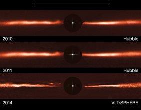 Dysk wokół gwiazdy AU Microscopii