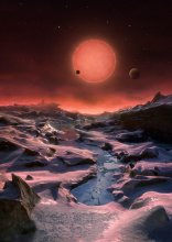 Ultrachłodny gwiazdowy karzeł na niebie okrążającej go planety