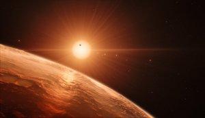 Jedna z planet w układzie TRAPPIST-1 w wizji artysty