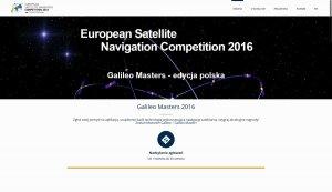 Galileo Masters 2016 - witryna polskiej edycji konkursu