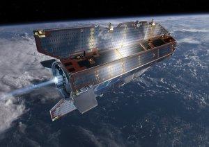 Satelita GOCE na orbicie okołoziemskiej