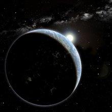Artystyczna wizja hipotetycznej planety pozasłonecznej