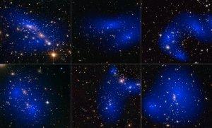Zderzenia gromad galaktyk i mapy rozmieszczenia ciemnej materii