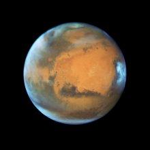 Mars na zdjęciu z Kosmicznego Teleskopu Hubble'a