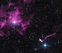 Pulsar IGR J1104-6103 z rekordowo długim dżetem