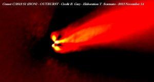Wybuch jasności komety C/2012 S1 (ISON)