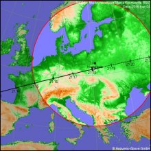 Stacja ISS nad Polską 4.04.2016 r.