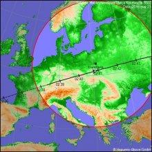 Trasa przelotu stacji ISS nad Polską w dniu 21 maja 2016 r.