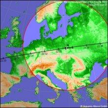 Przelot stacji ISS nad Polską w dniu 1 czerwca 2016 r.