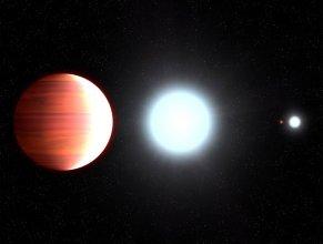 Wizja artystyczna Kepler-13Ab (po lewej)