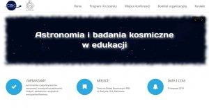 Astronomia i badania kosmiczne w edukacji