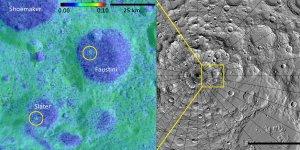 Okolice bieguna południwowego Księżyca - map albedo i mapa topograficzna