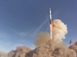Start rakiety Dniepr z satelitą Lem