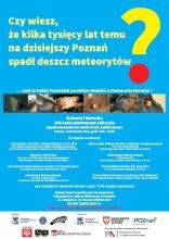 """Plakat konferencji """"Meteoryt Morasko – 100-lecie pierwszego odkrycia"""""""