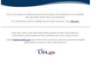 Widok witryny internetowej NASA (www.nasa.gov) w dniu 3.10.2013 r. około godz. 13:30.