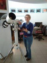 Ilona Dybicz z nowym teleskopem