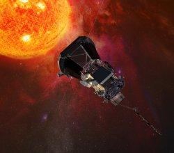Parker Solar Probe - artystyczna wizja sondy badającej koronę słoneczną
