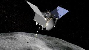 OSIRIS-Rez i asteroida Bennu - wizja artystyczna