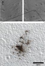 Nowe kratery na Marsie
