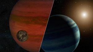 Egzoksiężyc i egzoplaneta - wizja artystyczna