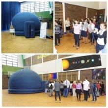Mobilne planetarium w Gimnazjum nr 123 w Warszawie