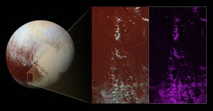 Pluton i jego zaśnieżone szczyty