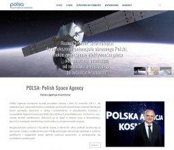 Strona internetowa Polskiej Agencji Kosmicznej (POLSA)