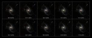 Galaktyka spiralna NGC 1365 z supernową SN 2012fr